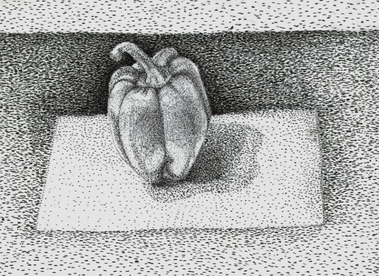 teknik menggambar pointilis