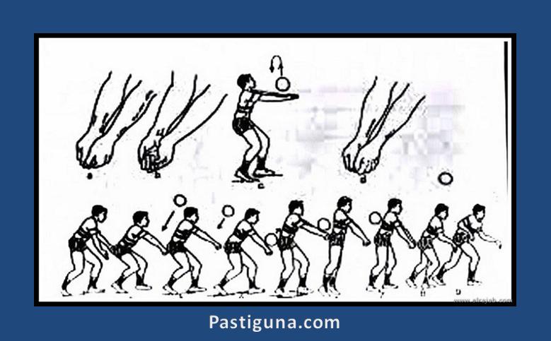 teknik passing bawah bola voli