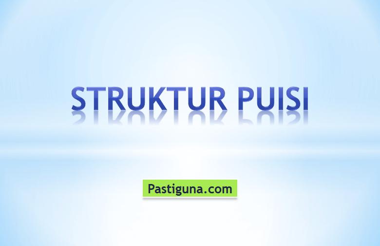 struktur puisi
