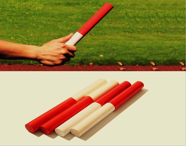panjang tongkat lari estafet