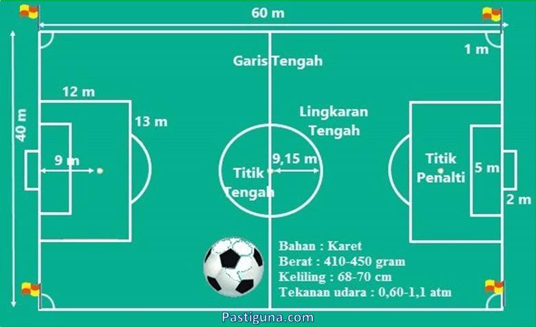 Ukuran Lapangan Sepak Bola Menurut FIFA, Internasional