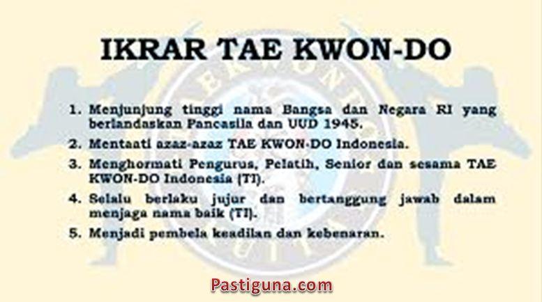 janji taekwondo