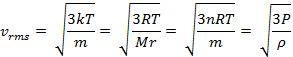 rumus kecepatan gas dalam ruang tertutup