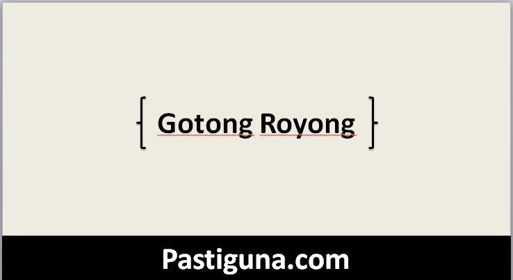 gotong royong