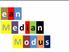 mean median modus